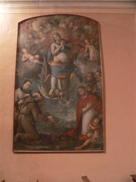 Dipinto all'interno dell'Oratorio dell'Immacolata Concezione (detto di S. Anna)