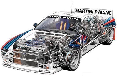 Lancia 037 rally car - cutaway