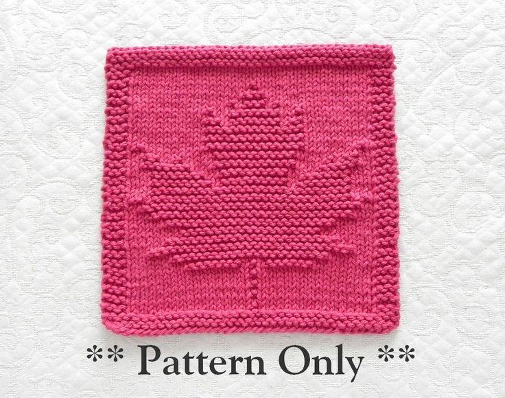 Knitting Pattern MAPLE LEAF - pdf Instant Download - Knit Dishcloth Pattern / Knit Wash Cloth Pattern - Easy Knit Pattern, Fall Decor by AuntSusansCloset on Etsy https://www.etsy.com/listing/232585163/knitting-pattern-maple-leaf-pdf-instant