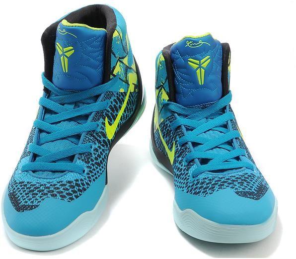 Kobe 9 Shoes For Women Blue Green Black Grey1