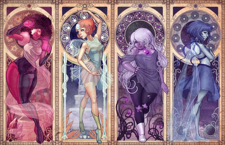 Steven Universe Art Nouveau by DreamerWhit on DeviantArt