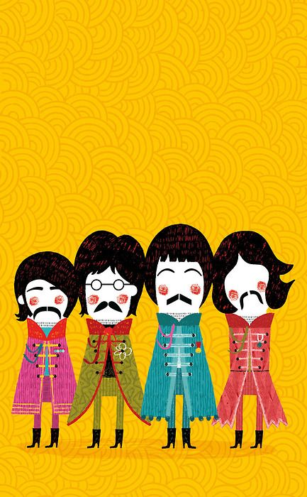 The Beatles. Paloma Valdivia. #cute #illustration #music