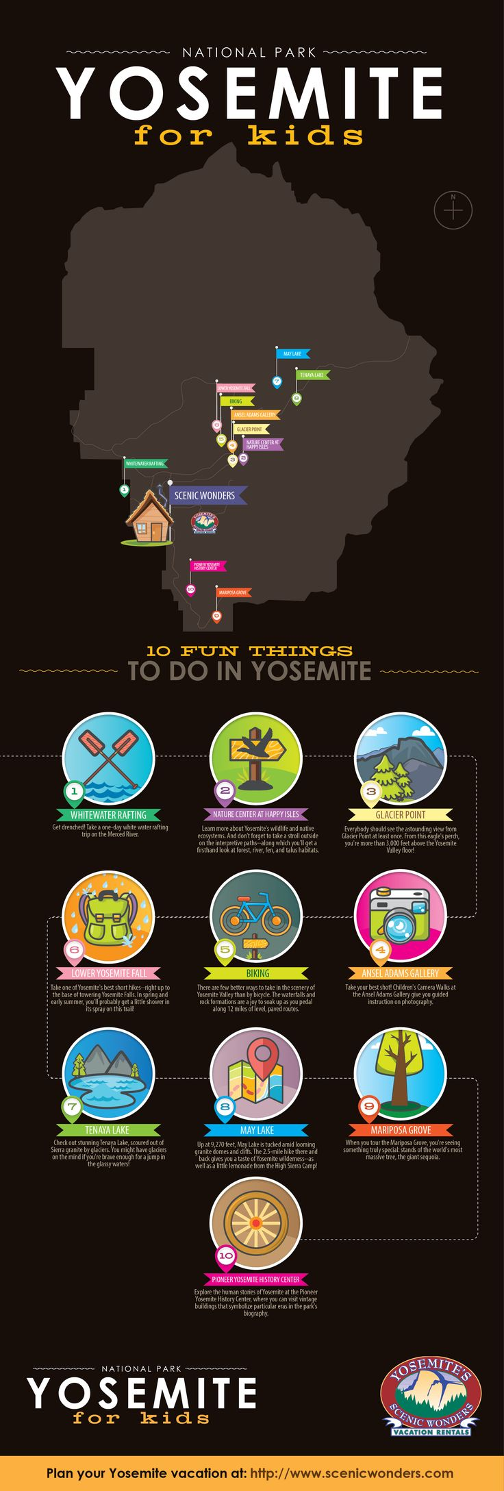 Check out this #Yosemite #Infographic: It's a full education on Yosemite fun for kids in the blink of an eye! http://www.scenicwonders.com/yosemite-for-kids-infographic/