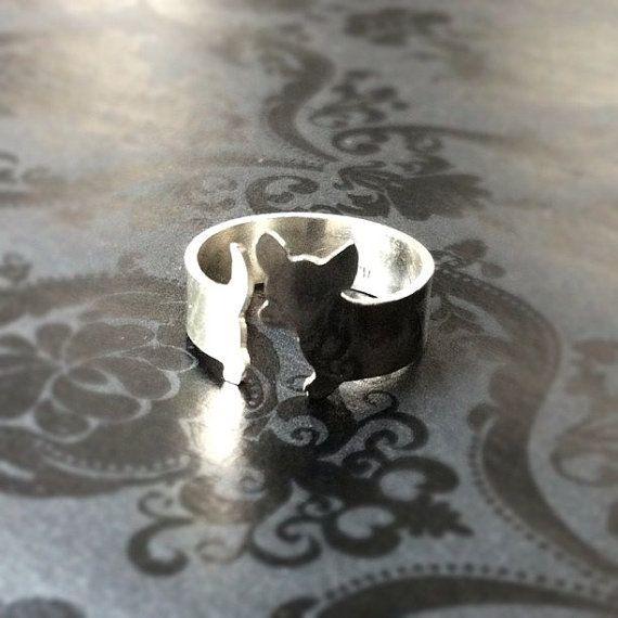 Custom Argentium Silver Chihuahua Dog Ring by mooshygooshies, adorable