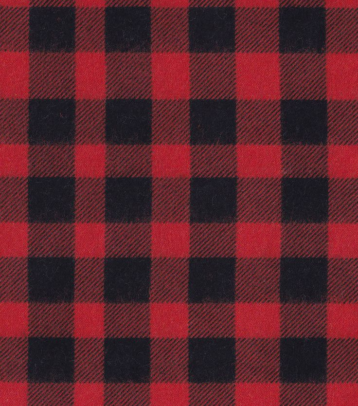 Snuggle Flannel Fabric Buffalo Plaid Redsnuggle Flannel