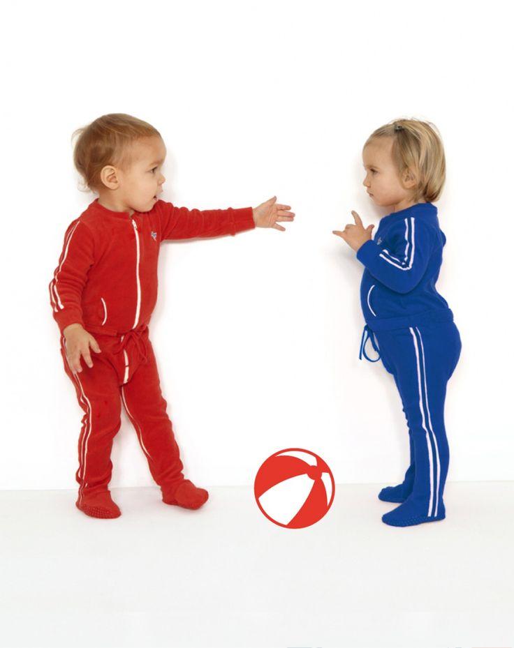 Jumpsuit Jogin rood Dis Une Couleur Jumpsuit Jongen - Minifox - Online store - webwinkel van originele, kwaliteitsvolle designer baby- en kinderkleding