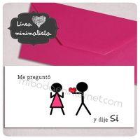 Invitación Boda Love Rectangular