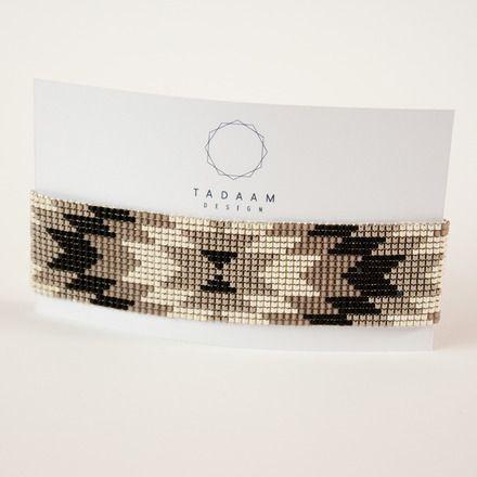Bracelet tissé en perles miyuki / Perles argentées en plaquées Argent 925…
