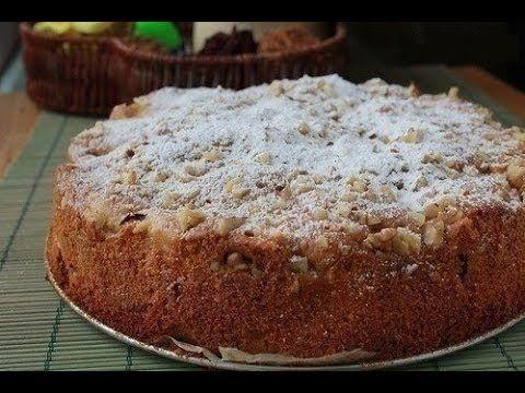 """Обалденный яблочный пирог """"Домашний"""" Ингредиенты: Тесто: ●300 г сметаны, ●3 яйца, ●200 г сахара, ●250 г муки, ●2 крупных яблока, ●100 г изюма, ●50 г сливочно..."""