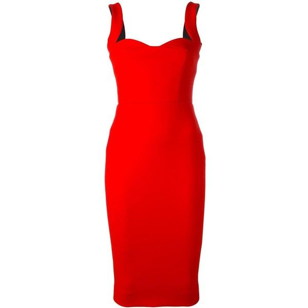 Victoria Beckham signature dress (3,112 CAD) ❤ liked on Polyvore featuring dresses, red, red dress, crimson dress, victoria beckham, crimson red dress and victoria beckham dresses