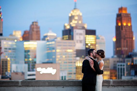 Art deco Detroit, Michigan wedding | photo by Jeffery Lewis Bennett | Read more - http://www.100layercake.com/blog/?p=67518