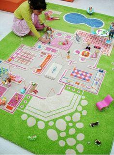 Mädchen Kinderzimmer-einrichten Spielteppich