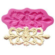 F1231 симметричный цветок кружева фондант силиконовые формы suagr укладки форма для свадебного торта украшения moldes торты, 13.5 * 5.8 * 0.8 см(China (Mainland))