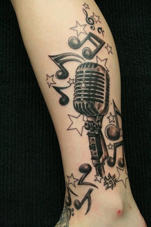 25 Awesome Music Tattoo Designs
