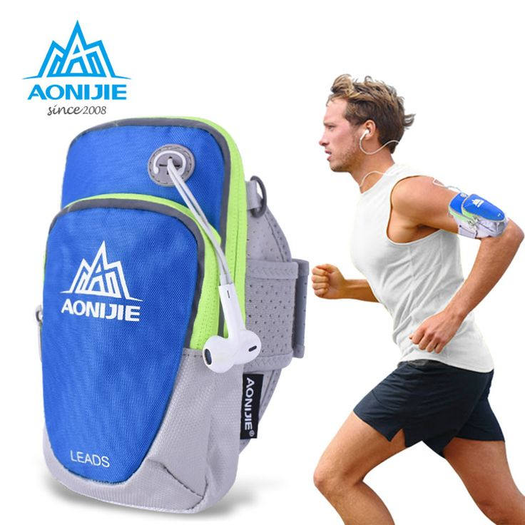 AONIJIE Adjustable For 4.7/ 5.5 inches Phone Cycling Running Armband Bag For Mobile Phone Case Gym Sport Running Accessories