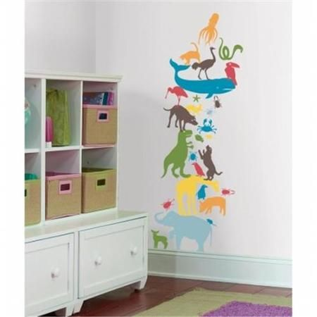 RoomMates HS60051 Kids Lab - Animal Tower Giant Wall Decal