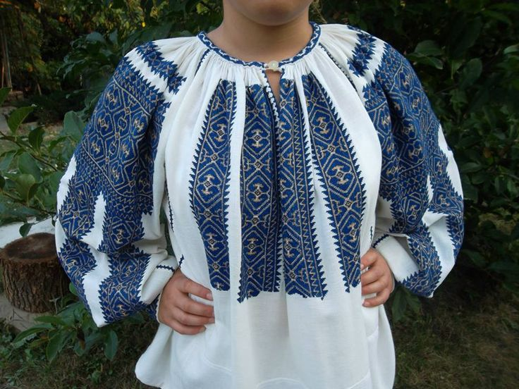 """Traditional Romanian blouse """"IE"""" from Muscel area (vintage) found on FB page: Costume Populare Vechi"""