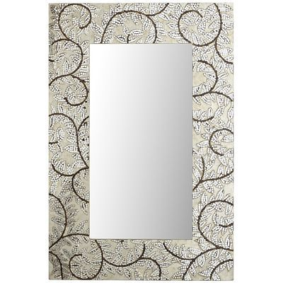 Silver Leaves Mosaic Mirror Color Silver Engineered