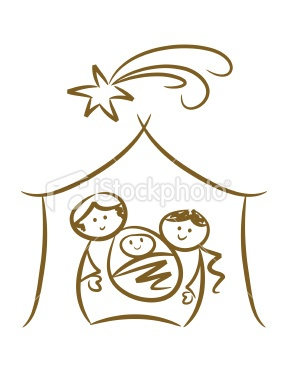 Simple nativity--for mom's gift