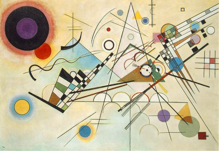 middle school art projects | This painting was influenced by Kandinsky. Click on the image for full ...