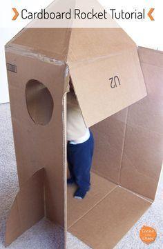 Easy DIY Cardboard Rocket Spaceship Tutorial