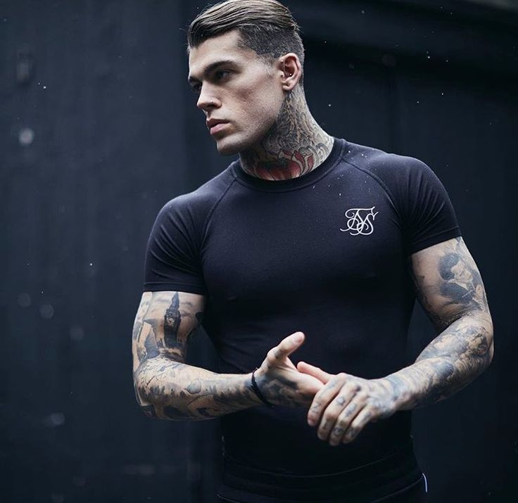 Model Stephen James for Sik Silk #HotTattoos