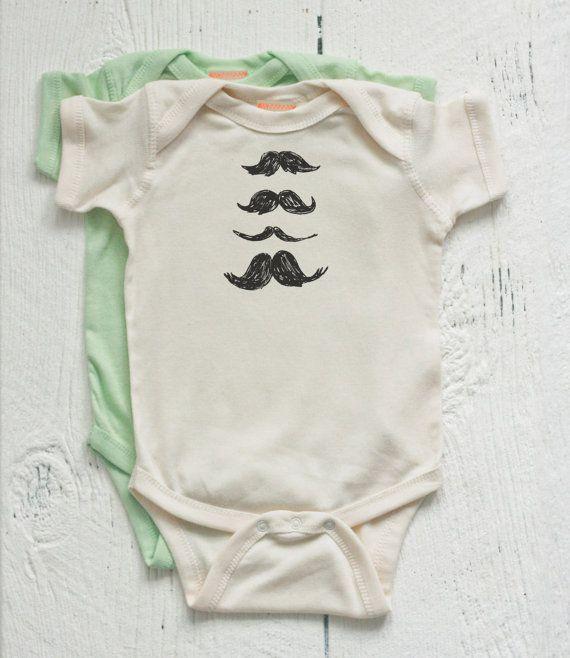 Organic+Baby+Onesie+Mustache+a+la+carte+Newborn+by+twiddleANDtweet,+$25.00