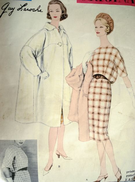 Vogue 1450 by Guy Laroche (1959). Image via the Vintage Patterns
