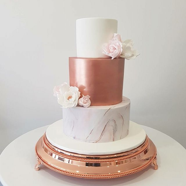 Rose Gold Blush Cakes Rose Gold Cake Sweet 16 Birthday Cake