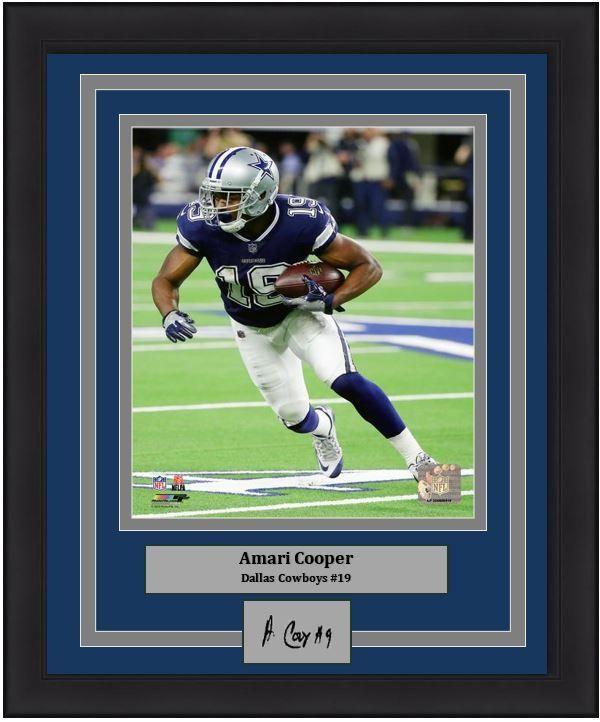 a97b42e09 Dallas Cowboys Amari Cooper Engraved Autograph NFL Football 8