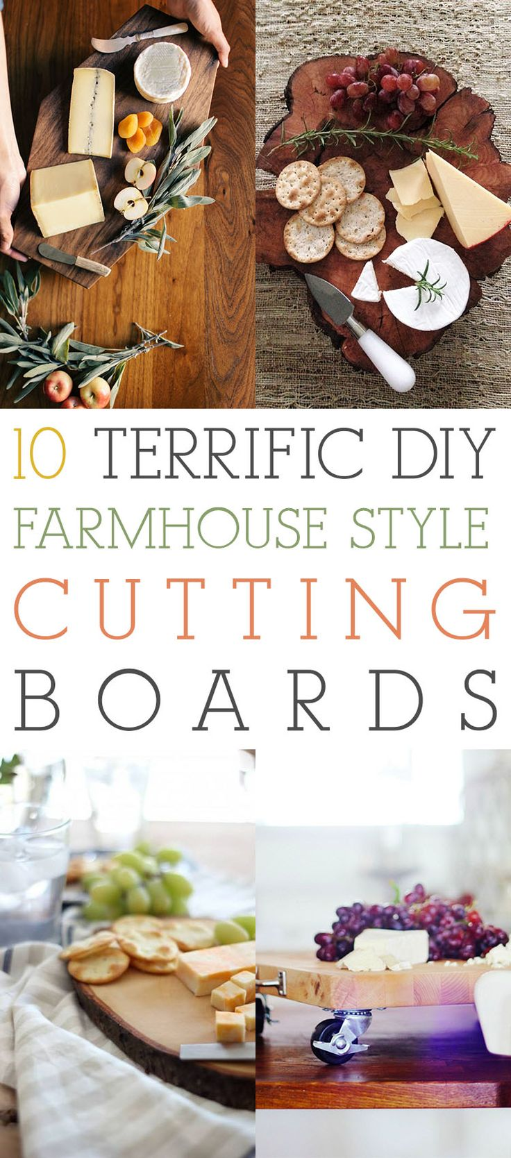 10 Terrific DIY Farmhouse Style Cutting Boards