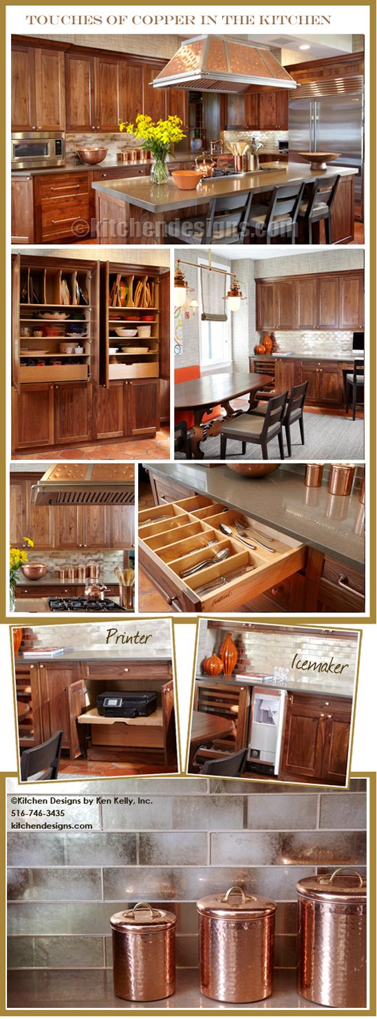 Luxury Kitchen with touches of copper in Sands Point )Long Island) NY Renovation by Kitchen Designs by Ken Kelly