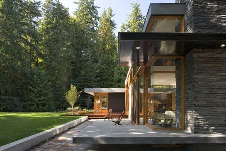 cantilevered patio