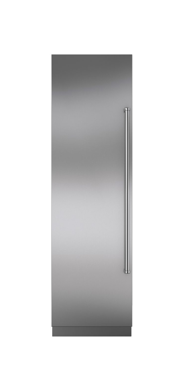 """24"""" integrated  column refrigerator  and freezer by  Sub-Zero  $6,665  With a refrigerator and freezer hidden behind one solid door, Sub-Zero's 24-inch combination column looks sleek while fitting in  the tightest nooks."""