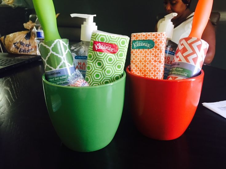 Awesome gifts for move ins or outreach marketing. You can get everything at the dollar store.