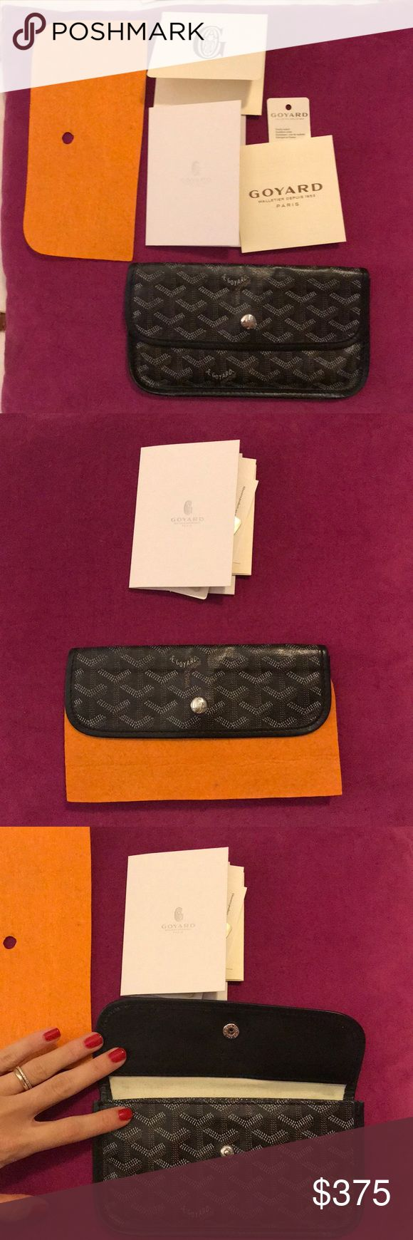 GOYARD Wallet/pouch Authentic, comes with everything in pictures. Less than a year old. Goyard Bags Wallets