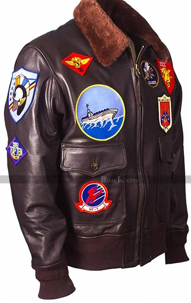 Top Gun Tom Cruise Bomber Replica Aviator Flight Jacket c2df2369eede0