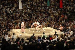 相撲  じゃまかんばん『日本と世界の伝統写真日記』