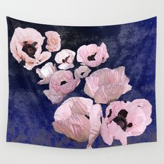 A Shock of Poppies Wall Tapestry