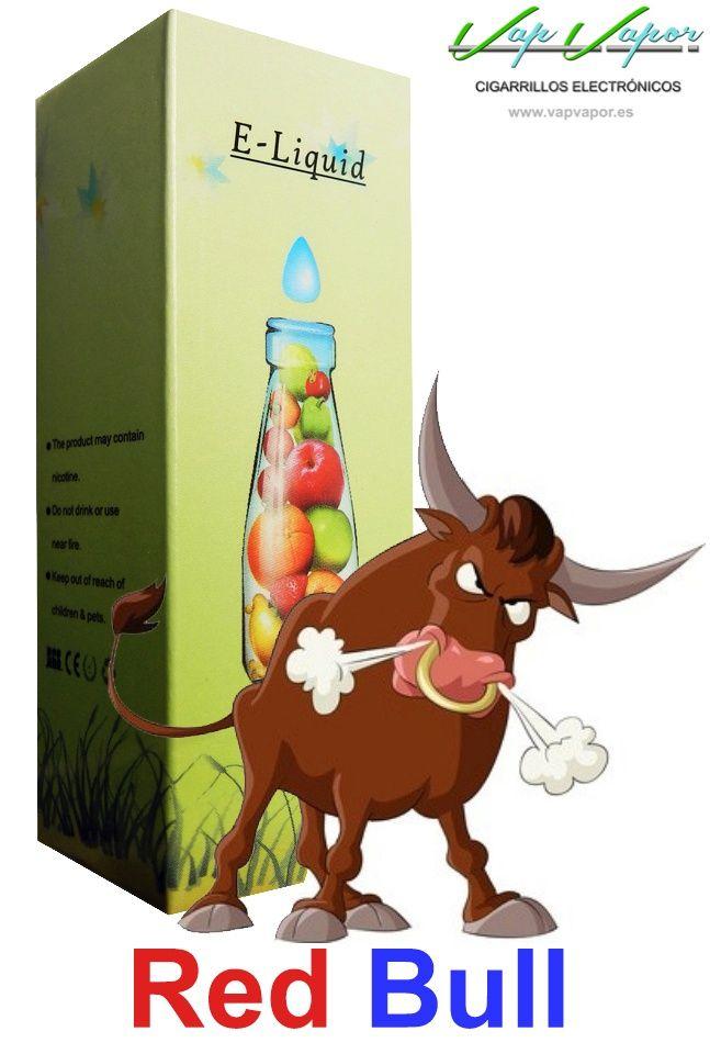 e-liquid Red Bull  http://www.vapvapor.es/liquidos-bebidas-cigarrillos-electronicos   Líquidos para cigarrillos electrónicos de la marca e-liquid. Nuestra marca e-liquid se caracteriza por su gran variedad de aromas y sabores.     - e-liquid sabor Red Bul (bebida)     - Categoría: otros