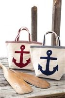 Canvas Bags with Anchors.