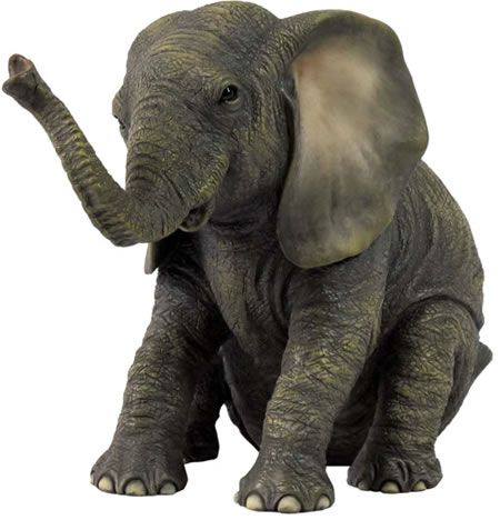 baby elephant sitting tons of elephant sculptures on this site elephants pinterest. Black Bedroom Furniture Sets. Home Design Ideas
