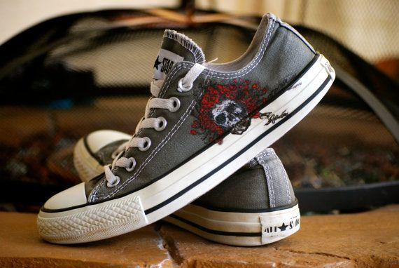 The Grateful Dead Converse Album cover American beauty custom by krazykicks