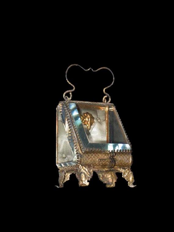 166 best Vintage Glass Caskets images on Pinterest Antique boxes