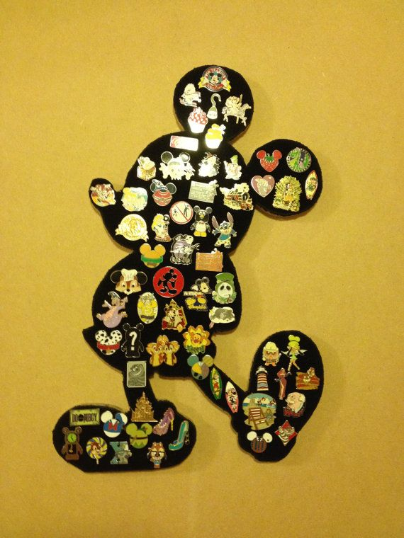 Disney Mickey Mouse Pin display board. Showcase and Hold your pin lot of 60. Full body