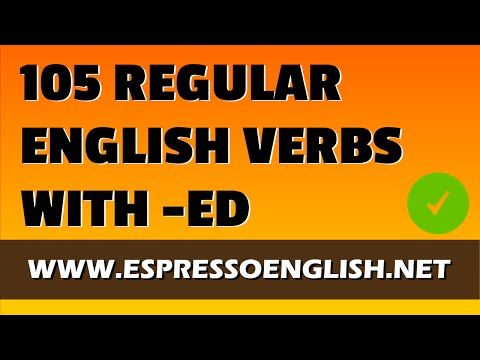 English Pronunciation Practice: 105 Regular Verbs with ED in the Past