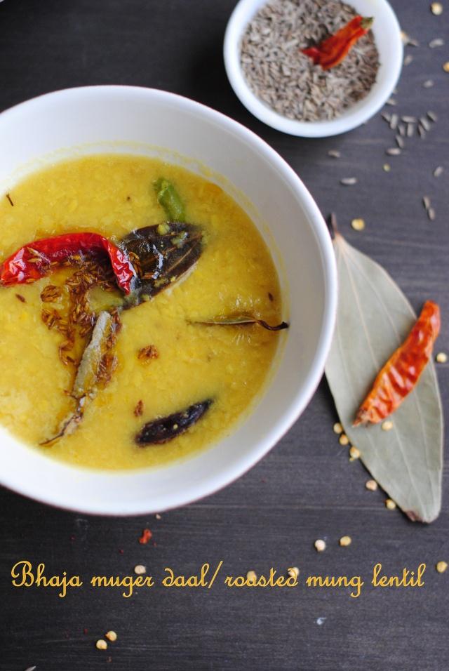 Bhaja mug daal/roasted mung daal ... Love this Bengali food blog