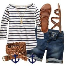 Not Too Nautical by qtpiekelso on Polyvore via @Madeleine Splattstoesser