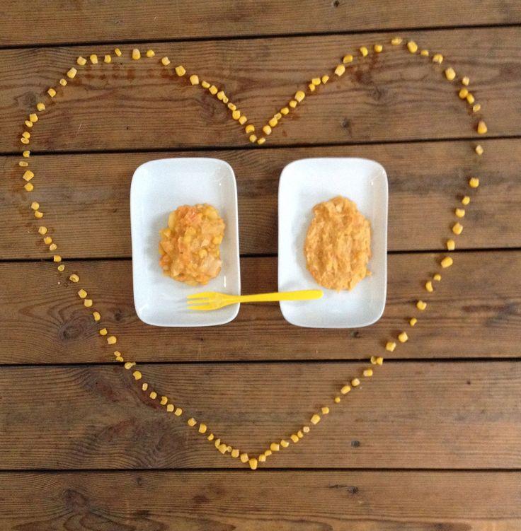 Kylling og mais-gryten inneholder masse deilige grønnsaker og vil gi mengder av vitaminer og mineraler til din lille håpefulle. Denne oppskriften er også en veldig fin introduksjon av kylling i ditt barns kosthold, så hvis du ikke allerede har startet så mye med kjøtt, kan dette være en fin oppskrift å begynne med. Kylling- og