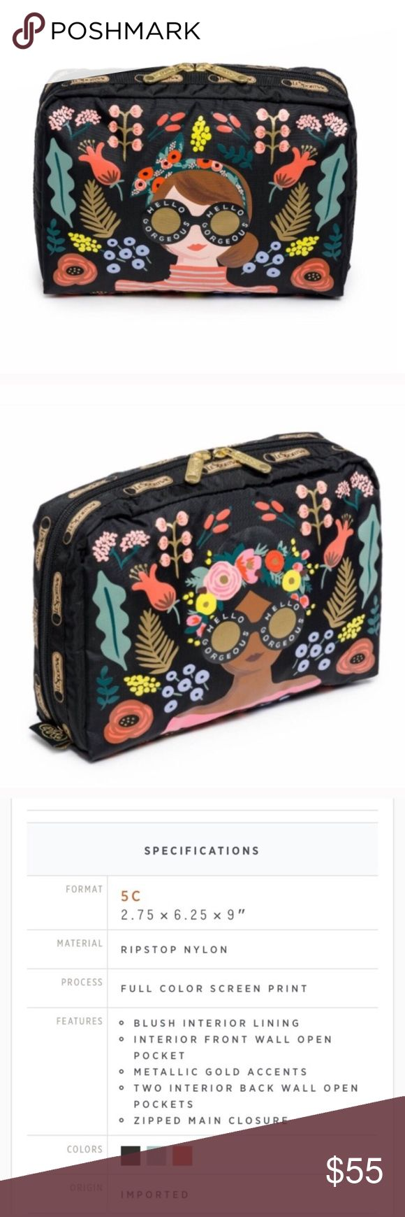 Rifle Paper Company for LeSportsac bag Brand new. Limited edition Lesportsac Bags Cosmetic Bags & Cases